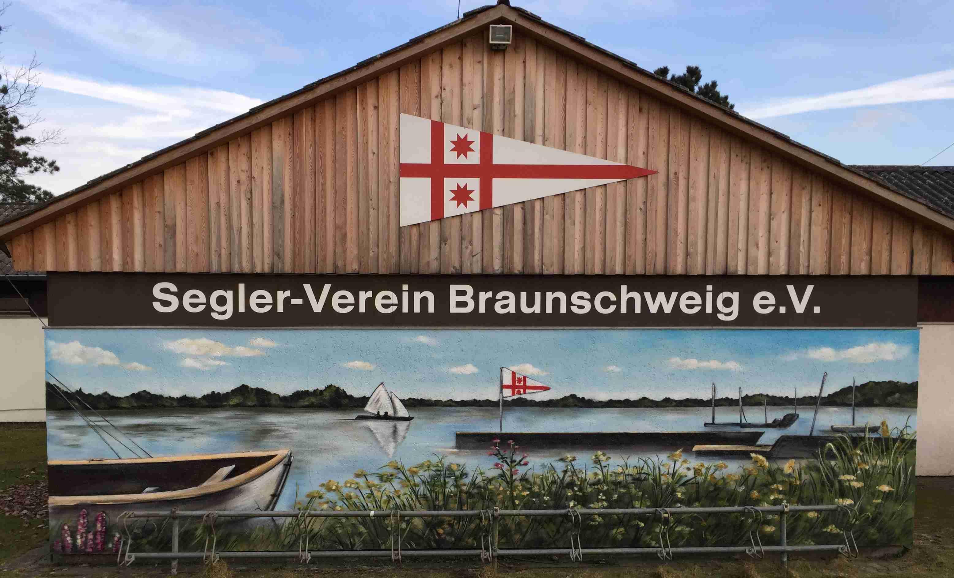 Fassadenmalerei am SVBS-Vereinsheim
