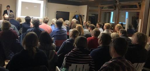 Publikum beim Vortrag zur Seekrankheit, insgesamt über 70 Personen